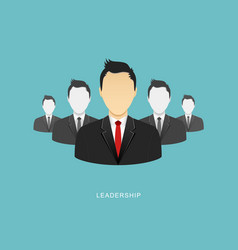 Leadership flat design vector