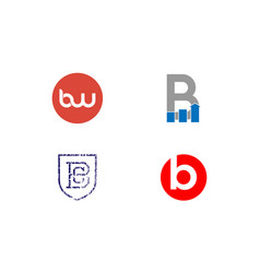 Letter b logo and icon designs in blue vector
