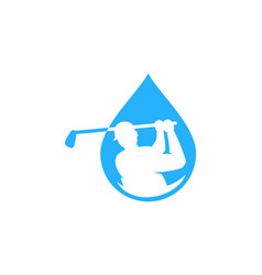 liquid golf logo icon design vector image
