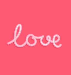 love the word love in form a cream vector image