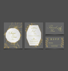 luxury wedding invitation card save date rsvp vector image