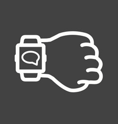 Messaging on watch vector