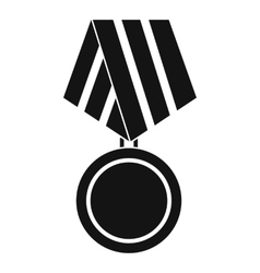 Military medal icon simple style vector image