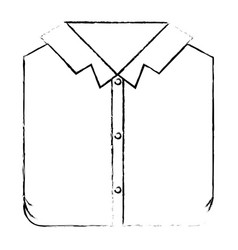 Monochrome blurred silhouette of man shirt folded vector