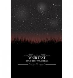 night sky card vector image
