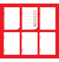 Notepad paper vector