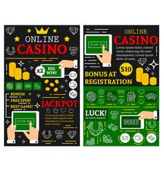 online casino poker jackpot posters vector image