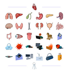 Organs medicine health and other web icon in vector