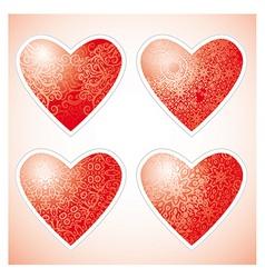 ornamental hearts vector image vector image