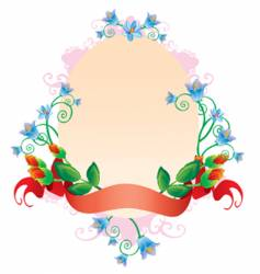 oval ornament vector image