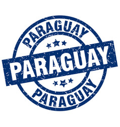 Paraguay blue round grunge stamp vector