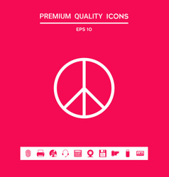 peace sign symbol graphic elements for your vector image