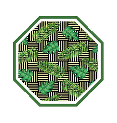 Rhombus in straw with leafs vector