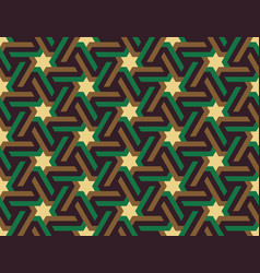 Seamless geometric islamic ornament with stars vector