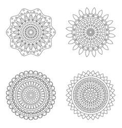 set floral mandalas vector image