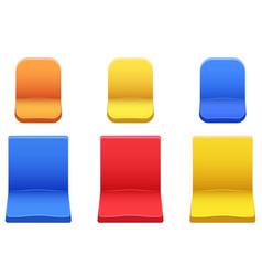 set of plastic stadium seats vector image