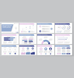 Set purple elements for multipurpose presentation vector