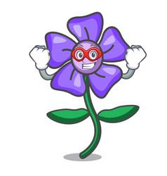Super hero periwinkle flower character cartoon vector