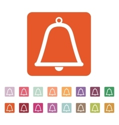 The bell icon Alert symbol Flat vector image