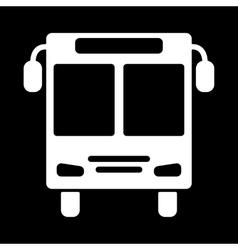 The bus icon Public transport stop symbol Flat vector image