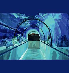 the oceanarium vector image