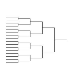 Tournament bracket templates vector