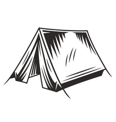 vintage camping monochrome concept vector image