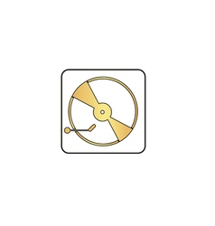 Vinyl turntable computer symbol vector