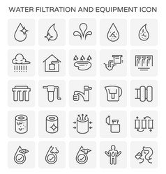water filtration icon vector image