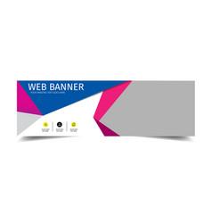 Web banner modern geometry style image vector