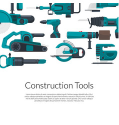 with electric construction tools vector image