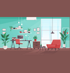 workplace modern design office studio vector image