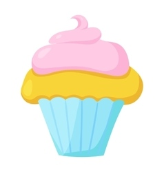 Fast food cupcake icon vector image vector image