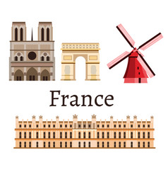 france romance set icon vector image vector image