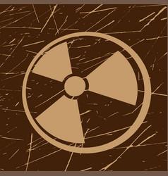 grunge radiation symbol vector image