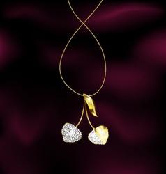 jewelry cherry vector image