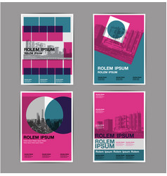 layout design set 4 template abstract background vector image vector image