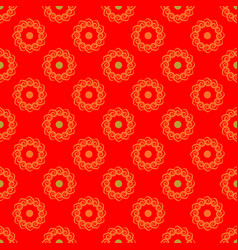 polka dot flower chaotic seamless pattern 112 vector image