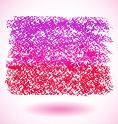 Red pastel crayon spot isolated on white vector
