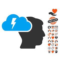 brainstorming icon with lovely bonus vector image vector image