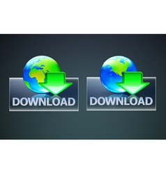 global computer download concept vector image vector image