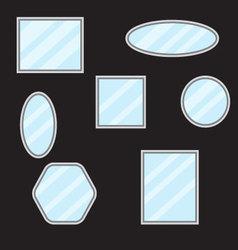 Mirror set design form vector image vector image