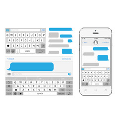 phone chat interface sms messenger vector image