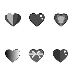 set of hearts design and love elements vector image