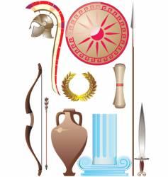 ancient greece set vector image
