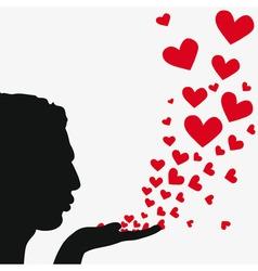 blowing heart vector image