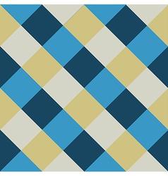 Blue Cream Chess Board Diamond Background vector image