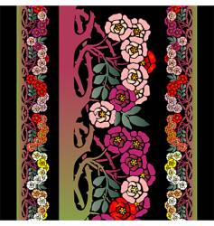 briar roses vector image vector image