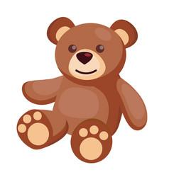 flat teddy bear baby toy vector image