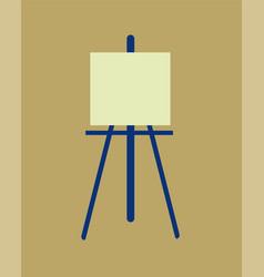 icon easel flat design symbol vector image vector image